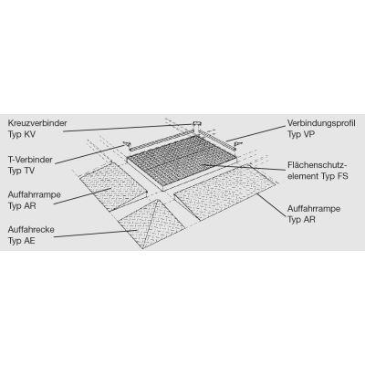 Elemento di collegamento, modello VP 13, zincato